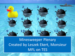 Minesweeper Plenary Game!!