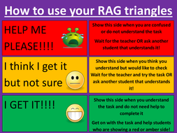 rag analysis template - assessment for learning rag triangle tool by catbuckle