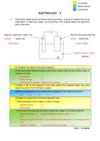 electrolysis calculations worksheet with answers pdf