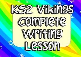 KS2 Vikings Engaging Cross-Curricula Writing Complete Lesson (Multiple Genre)
