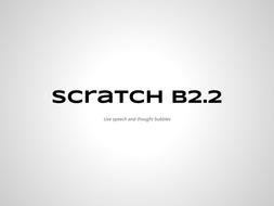 Code Lesson B2-2 Speech in Scratch