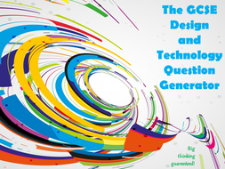 The GCSE Design and Technology Question Generator