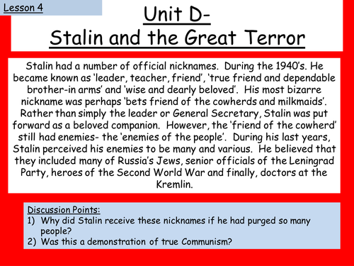 stalin and the cult of personality essay