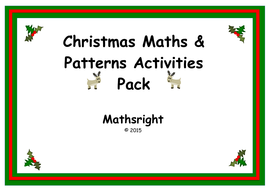 christmas maths and patterns activities pack