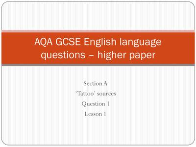 aqa gcse english language coursework mark scheme