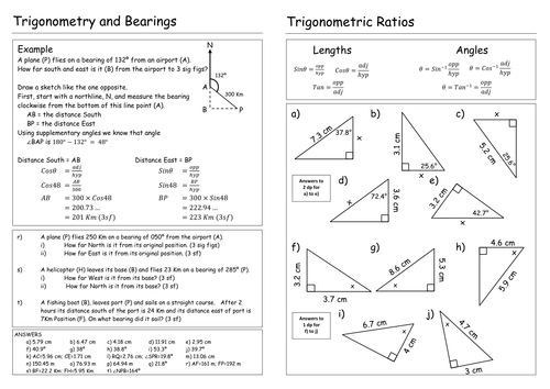 Worksheets Trig Worksheets trigonometry worksheet by pebsy teaching resources tes
