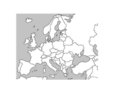 Blank map of Europe by katieluke84 | Teaching Resources
