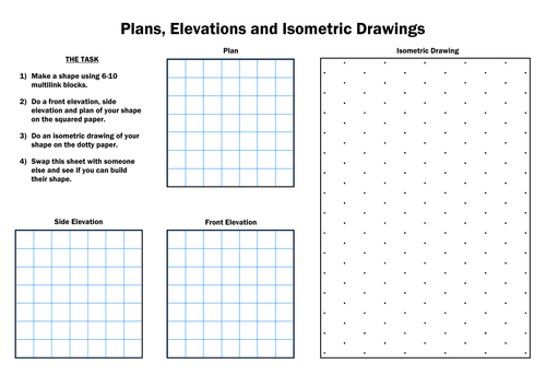 Plan Elevation And Isometric View : Plans and elevations full lesson by tracyldavis