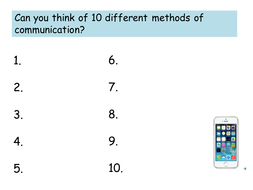 Methods of Communication