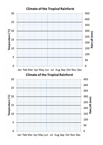 Climate graphs of the rainforest by vixvixvix09 - Teaching Resources ...