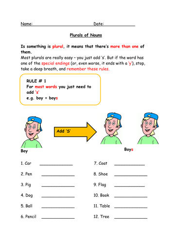 plurals worksheet and revision for ks2 or low ability ks3 by jford1984 teaching resources tes. Black Bedroom Furniture Sets. Home Design Ideas