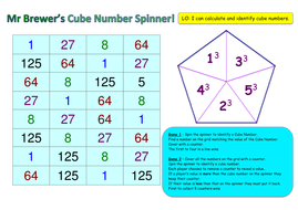 Cube Numbers Game by ryan-brewer | Teaching Resources