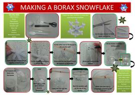 Making a borax snowflake instructions sheet