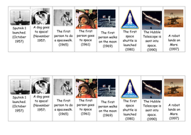 space exploration timeline by liampbielby teaching resources tes