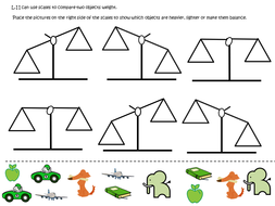 Balance Scales and Weight Yr 1