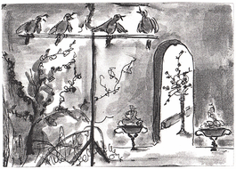 illustration: drawing of  Singing Birds, on the wall.jpg