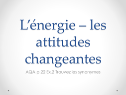 L'énergie - synonyms activity