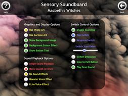 macbeth soundboard for complex needs and pmld by senteacherresources