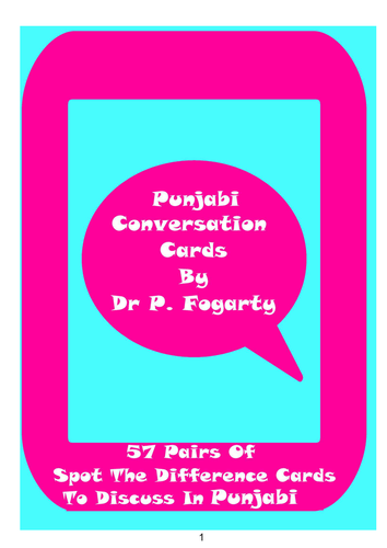 57 Punjabi Setting Cards For Conversation Practice