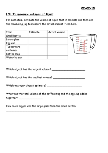 year 3 measuring capacity of liquids worksheet by moiller teaching resources tes. Black Bedroom Furniture Sets. Home Design Ideas