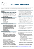 teachers standards 2012 one page compact easy print pdf by akilah123