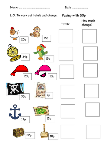 pirate money and change lesson by clara5 teaching resources tes. Black Bedroom Furniture Sets. Home Design Ideas