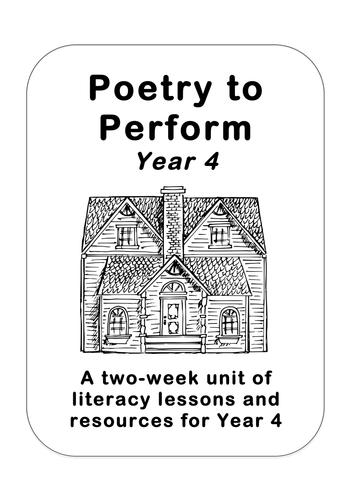 Classic Performance Poetry Unit, Year 4 (Walter de la Mare