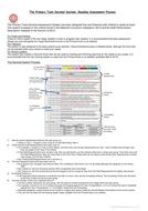 Year 3 Reading Assessment Sheet