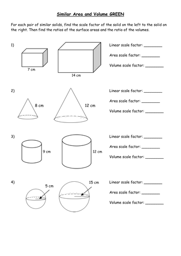 Area Of Similar Figures Worksheet: Similar shapes inc  area and volume by PixiMaths   Teaching    ,