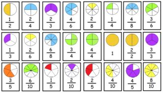 This is a picture of Universal Equivalent Fractions Games Printable