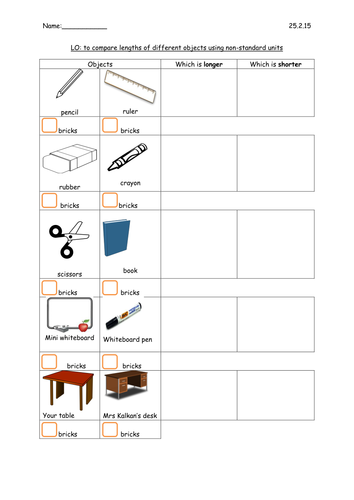 Comparing weights and lengths by beria3   Teaching Resources