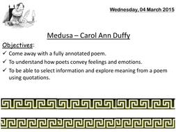 MEDUSA DUFFY GCSE