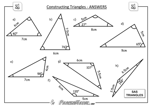 Constructing Triangles by ParkerMaths Teaching Resources Tes – Constructing Triangles Worksheet