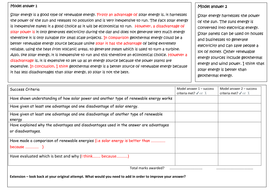 Comparing renewable energy sources AQA P1 by tomsky11 - Teaching ...