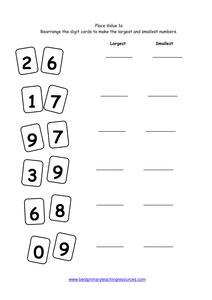 year 1 number worksheets place value. Black Bedroom Furniture Sets. Home Design Ideas