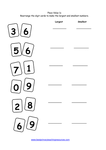 Maths Worksheets Year 1 by bestprimaryteachingresources