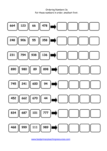 Free Worksheets » Ordering 5 Digit Numbers Worksheets - Free Math ...