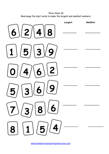 Place Value Worksheets place value worksheets year 3 : Maths Worksheets Year 3 by bestprimaryteachingresources - Teaching ...