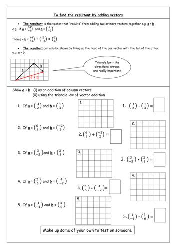 Adding vectors worksheet rcnschool introduction to vectors resources tes ibookread ePUb