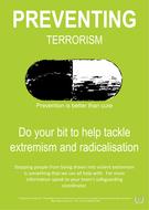 Tackling Radicalisation posters