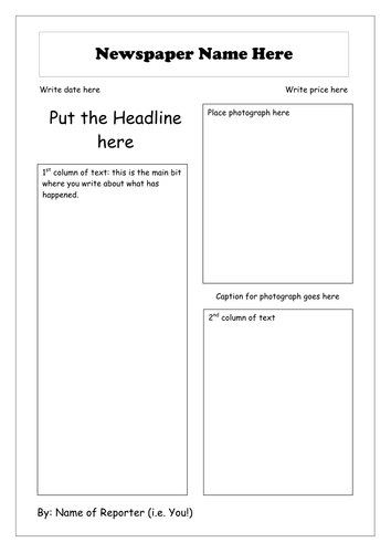 Amazing Template For Newspaper Report Pictures Wordpress Themes