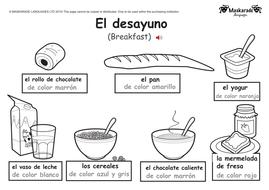 ks1 spanish food drink by maskaradelanguages teaching resources. Black Bedroom Furniture Sets. Home Design Ideas
