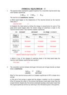 Chemistry: Chemical equilibrium