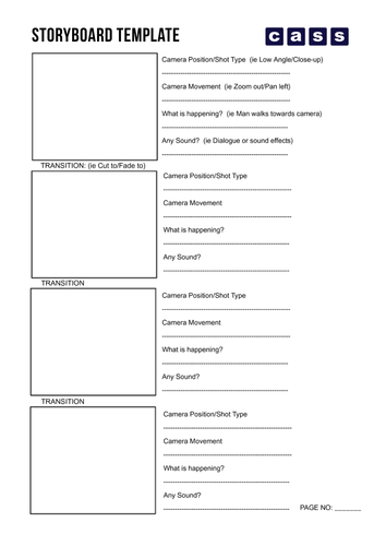 Storyboard Template By Cassproductions Teaching Resources Tes