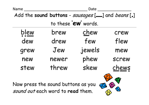 Phase 5: ew grapheme - selection of activities, games and a ...