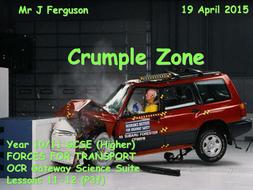 P3f Crumple Zone By Fergiebee Teaching Resources