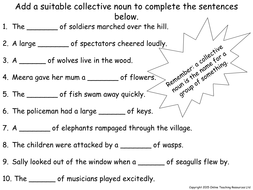 Pre Calculus Worksheets Excel Collective Nouns  Animated Powerpoint Presentation And Worksheet  Free Printable Preschool Worksheets Tracing Letters Excel with Nick Jr Worksheets Excel  Collectivenounsworksheetpdf Preschool Name Worksheets
