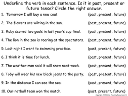 Verb Tenses - Animated PowerPoint presentation and worksheet by ...