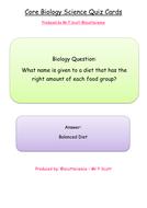 B1 Core Biology Quiz Cards