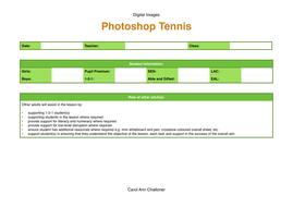 Photoshop Tennis